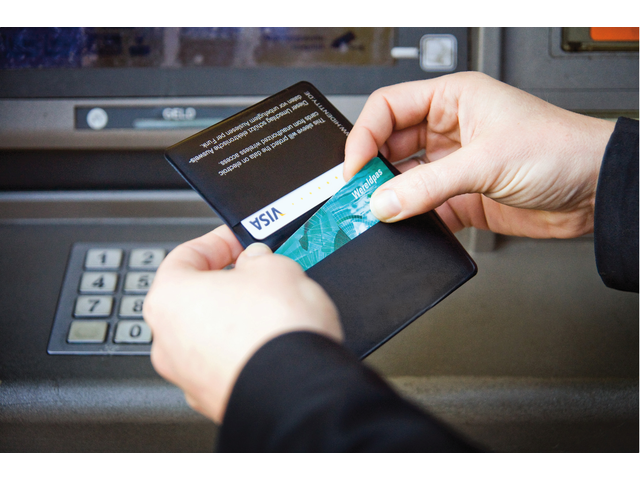 Beveiligingsmap hidentity voor bankpassen