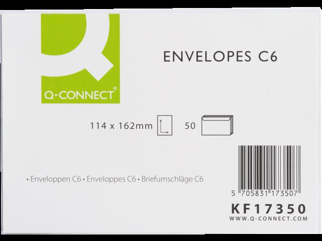 Envelop q-connect bank c6 114x162 80gr wit