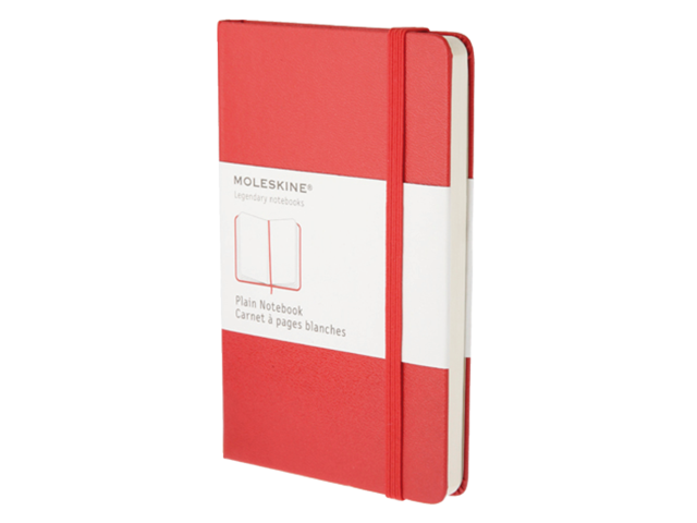 NOTITIEBOEK MOLESKINE BLANCO LARGE ROOD