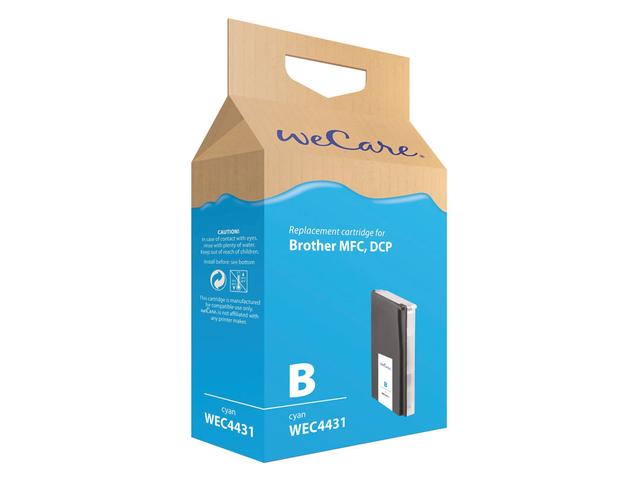 Inkcartridge wecare brother lc-1000 lc-970 blauw
