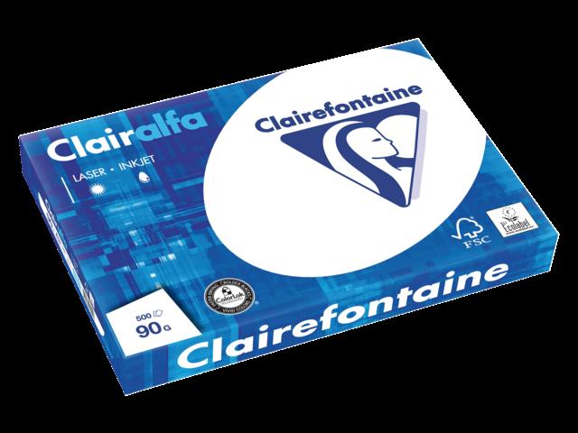 Kopieerpapier clairefontaine clairalfa a3 90gr wit 500vel