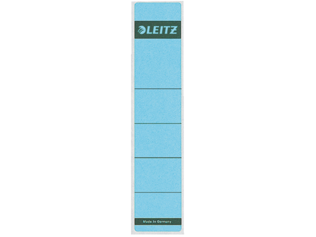 Rugetiket leitz 1643 38x190mm zelfklevend blauw