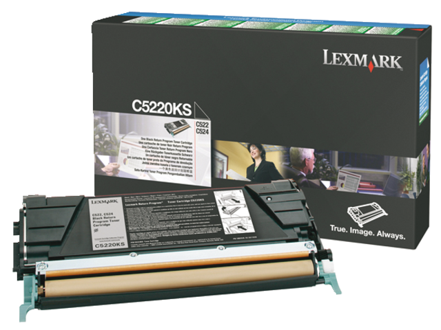 Tonercartridge lexmark c5220ks prebate zwart
