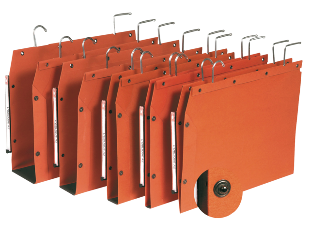 Hangmap oblique tub folio u-bodem 50mm oranje