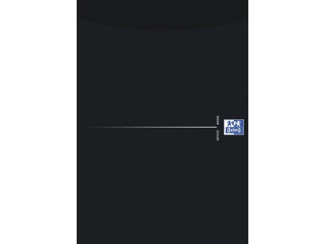 Schrijfblok oxford office smart black a4 gelinieerd