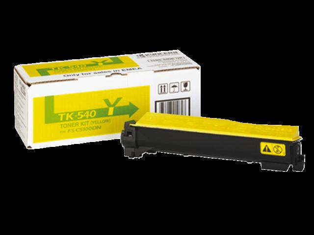 Toner kyocera tk-540y geel