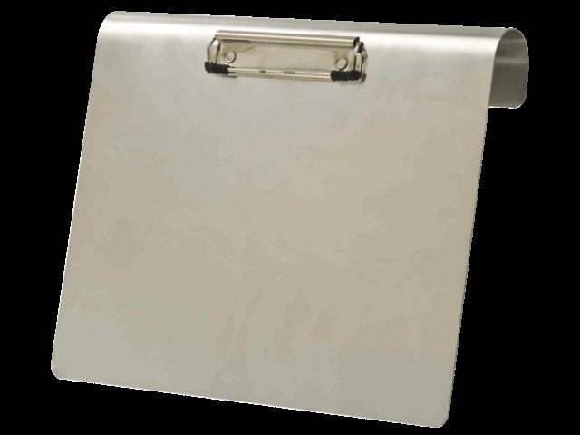 Klembord aluminium a4 liggend 120mm met klem en hangbeugel