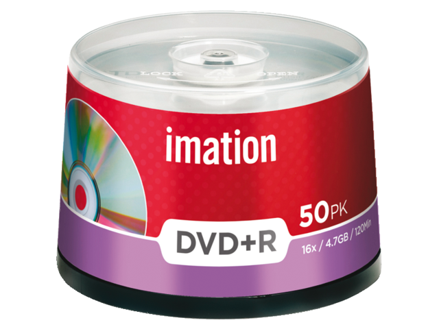 Dvd+r imation 16x 4.7gb spindel 50stuks