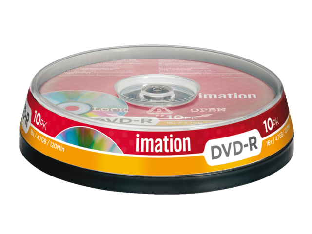 Dvd-r imation 16x4.7gb spindel 10stuks