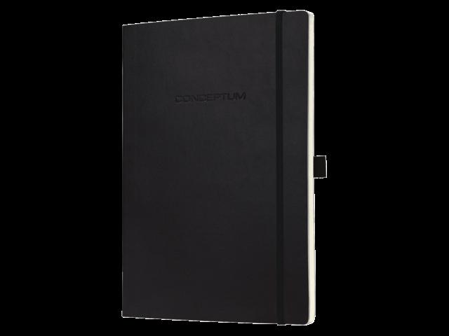 Notitieboek conceptum co212 187x270mm zwart lijn