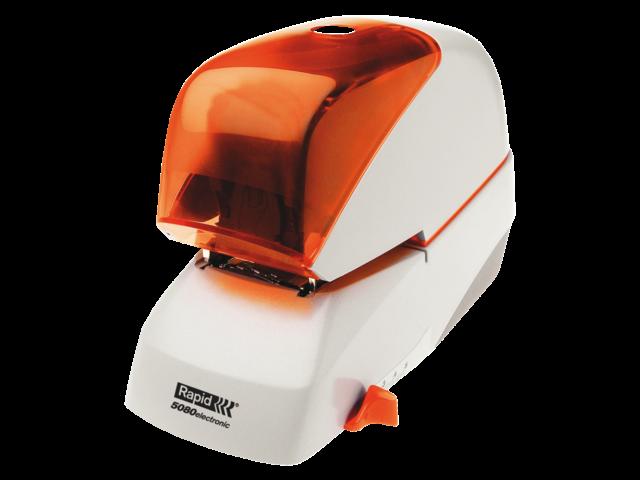 Nietmachine rapid elektrisch 5080e 80vel zilver/oranje