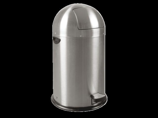 Afvalbak kickcan metalen binnenbak 33liter chroom