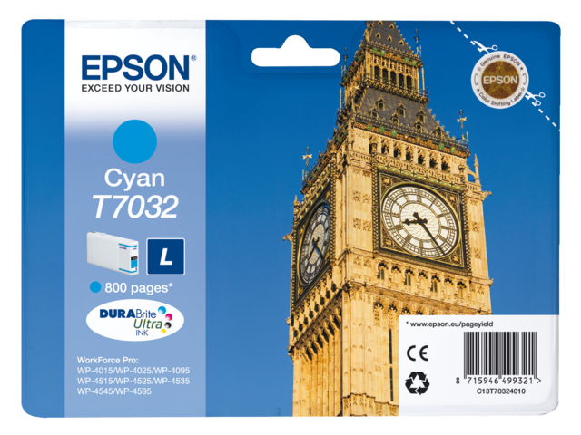 Inkcartridge epson t703240 blauw
