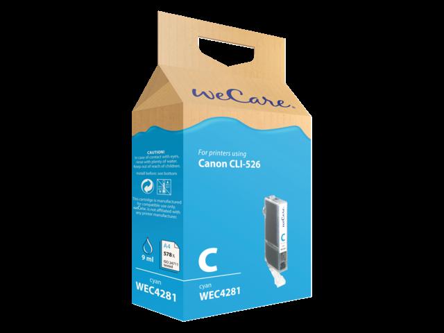 Inkcartridge wecare canon cli-526 blauw