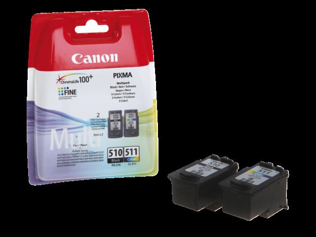 Inkcartridge canon pg-510/cl-511 zwart+kleur