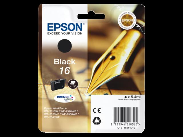 Inkcartridge epson t162140 zwart