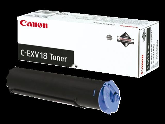 Tonercartridge canon c-exv18 zwart