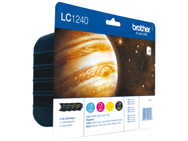 Inkcartridge brother lc-1240valbp zwart+3 kleuren