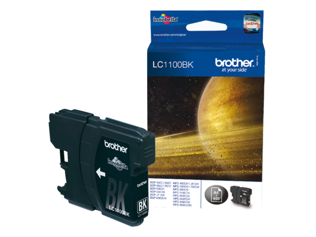 Inkcartridge brother lc-1100bk zwart