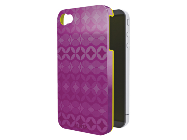 Telefoonhoes case leitz retrochic iphone 4/4s paars/geel