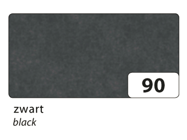 Zijdevloeipapier folia 50x70cm 20g nr90 zwart set à 5vel