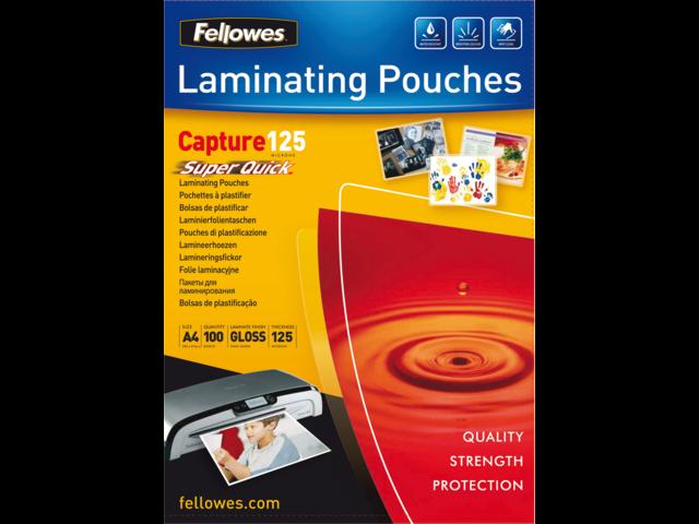 Lamineerhoes fellowes a4 superquick 2x125micron 100stuks