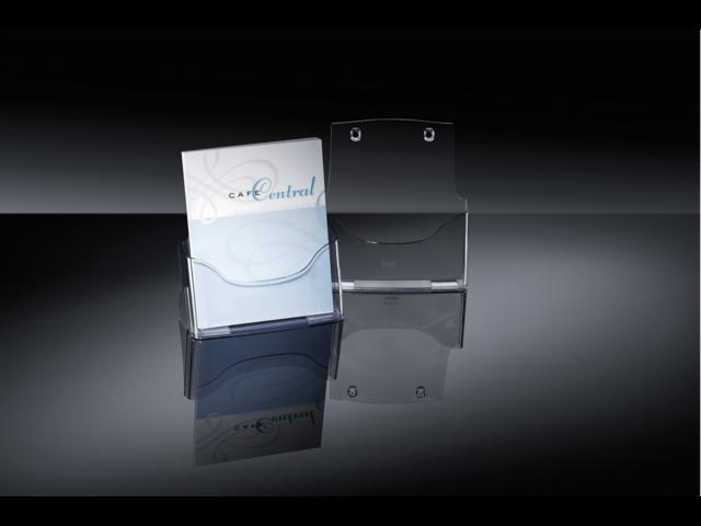 Folderstandaard sigel lh110 1xa4 staand transparant