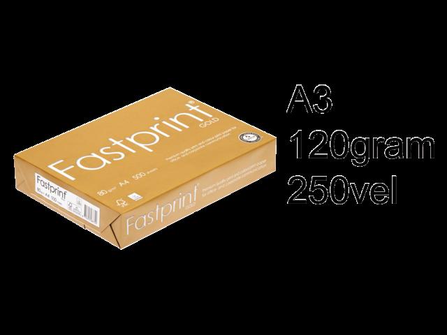Kopieerpapier fastprint gold a3 120gr wit 250vel