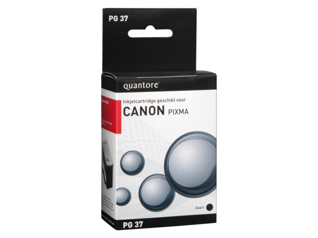 Inkcartridge quantore canon pg-37 zwart