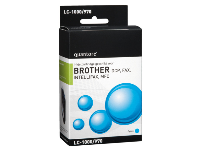 Inkcartridge quantore brother lc-1000 blauw
