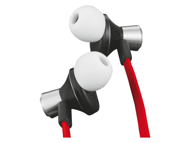 Headset trust urban revolt zipper in ear rood