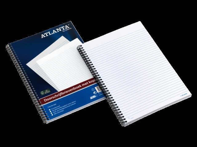 Brievenboek atlanta 2541401000 50x2 doorschrijfbrievenboek