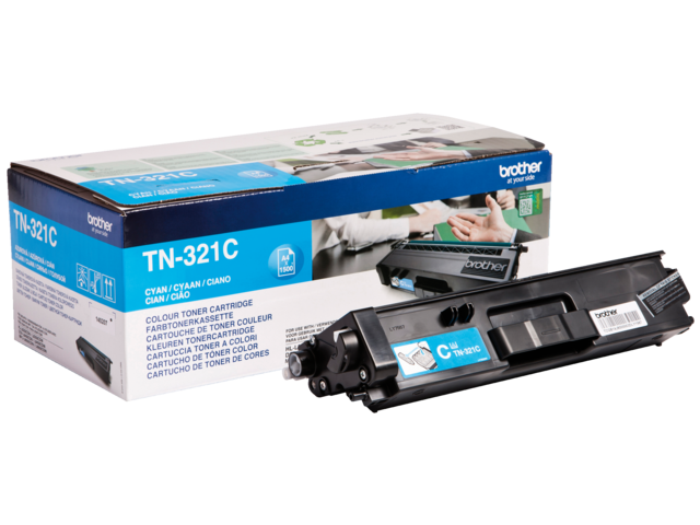 Tonercartridge brother tn-321c blauw