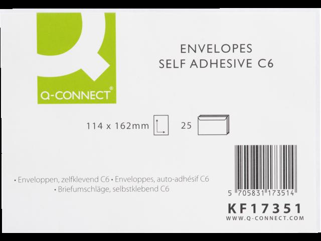 Envelop q-connect bank c6 114x162 80gr zelfklevend wit