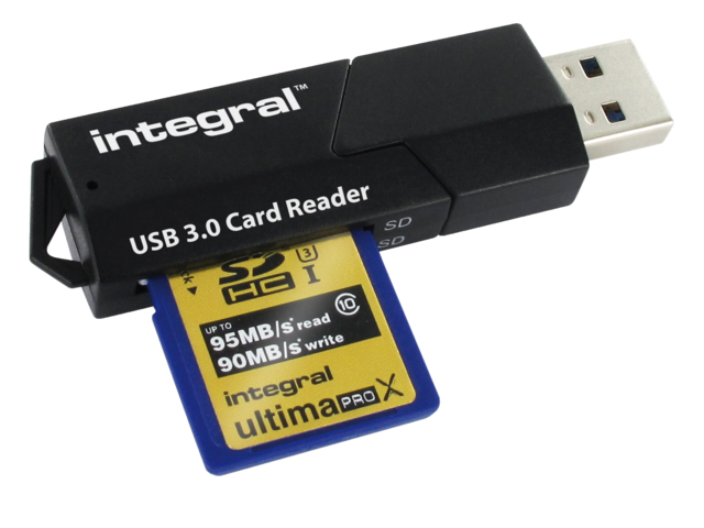 Integral kaartlezer USB 3.0