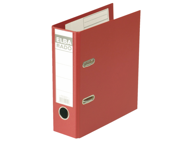 Ordner elba rado plast a5 staand 75mm pvc rood