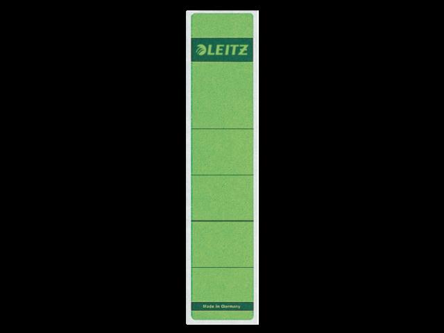Rugetiket leitz 1643 38x190mm zelfklevend groen