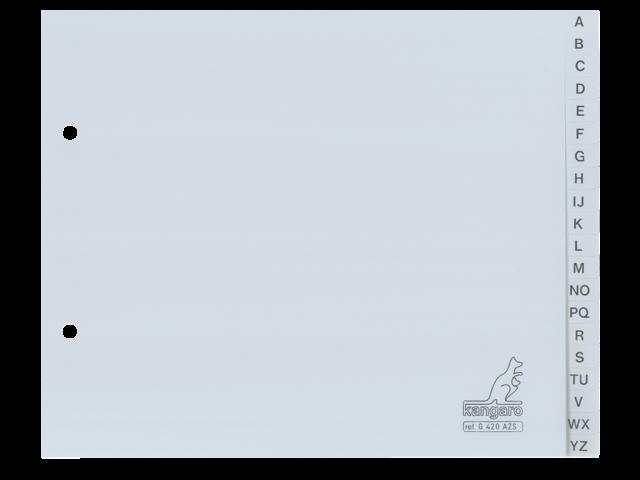 Ordneralfabet kangaro 2-gaats g420azs alfabet grijs pp