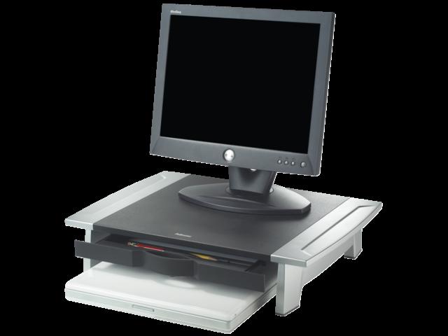 Flatscreenstandaard office suite riser klein zwart/grijs