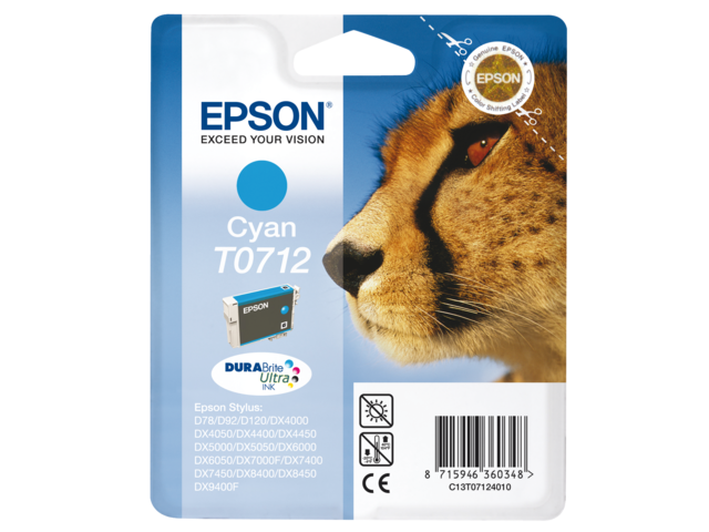 Inkcartridge epson t071240 blauw