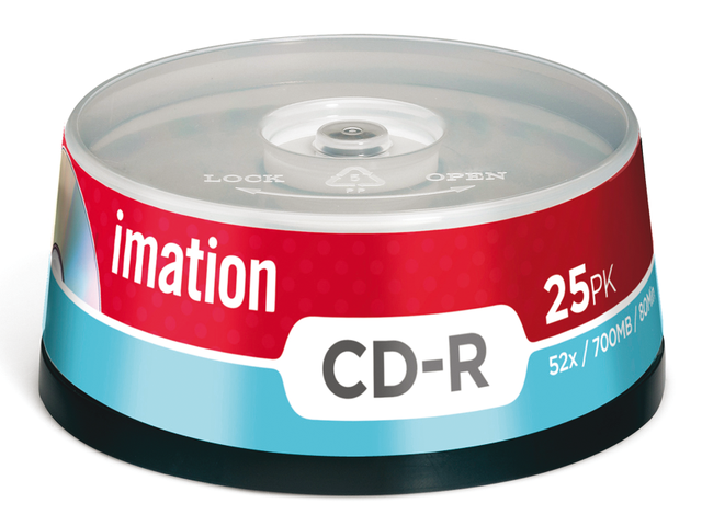 Cd-r imation 700mb 80min 52x spindel 25stuks