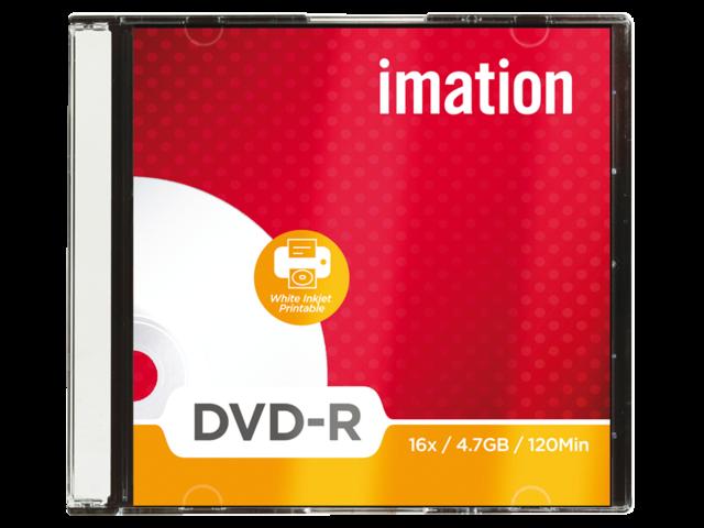 Dvd-r imation 16x4.7gb printbaar 10stuks