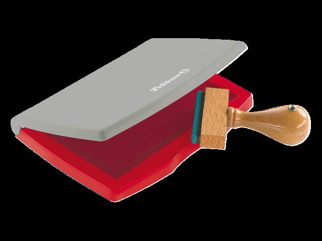 Stempelkussen pelikan 2e 110x70mm rood