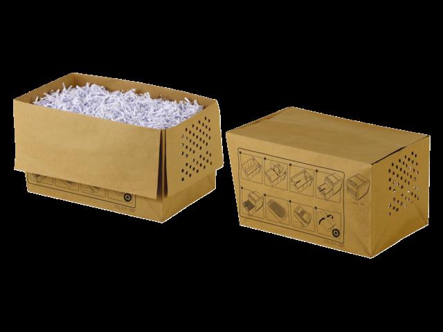 Rexel opvangzakken voor papiervernietigers recyclebaar