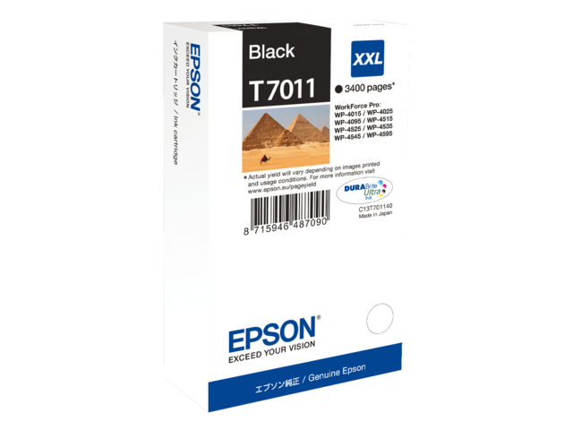 Inkcartridge epson t701140 zwart hc