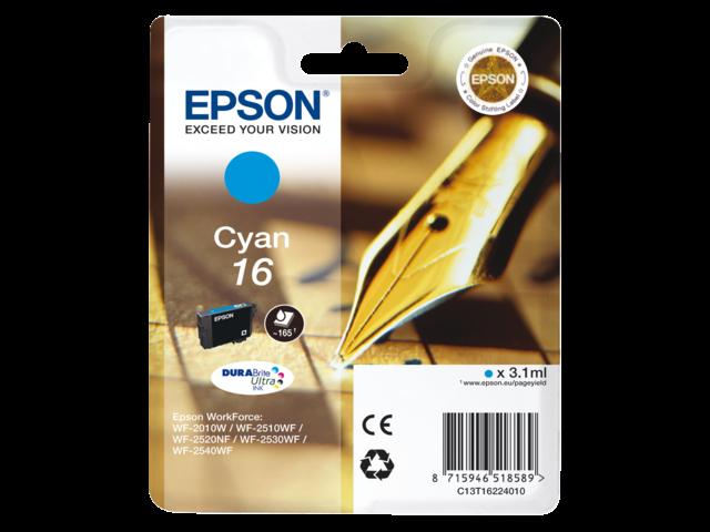 Inkcartridge epson t162240 blauw