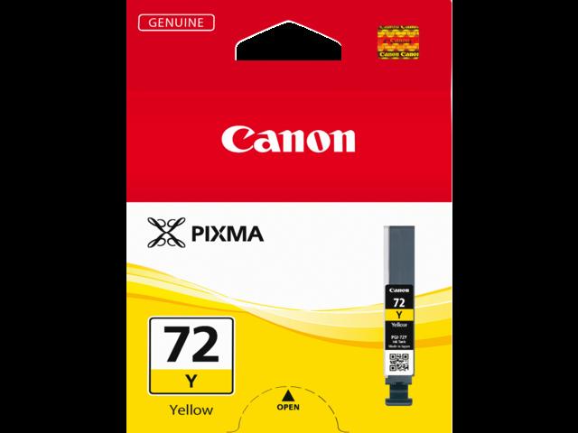 Inkcartridge canon pgi-72y geel