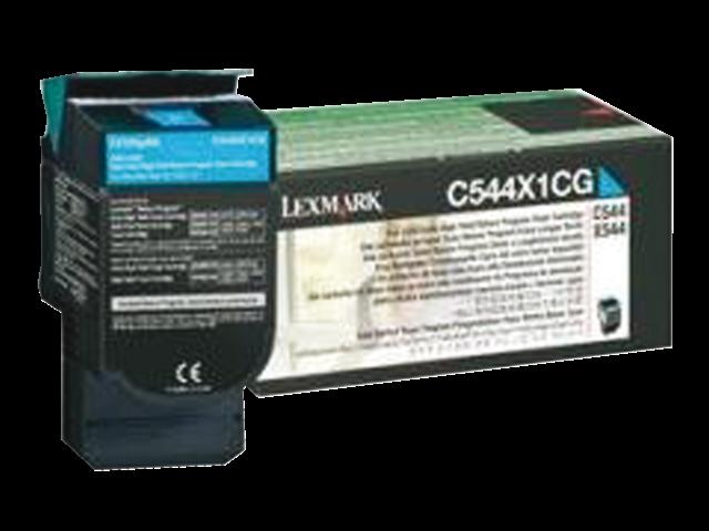Tonercartridge lexmark c544x1cg prebate blauw