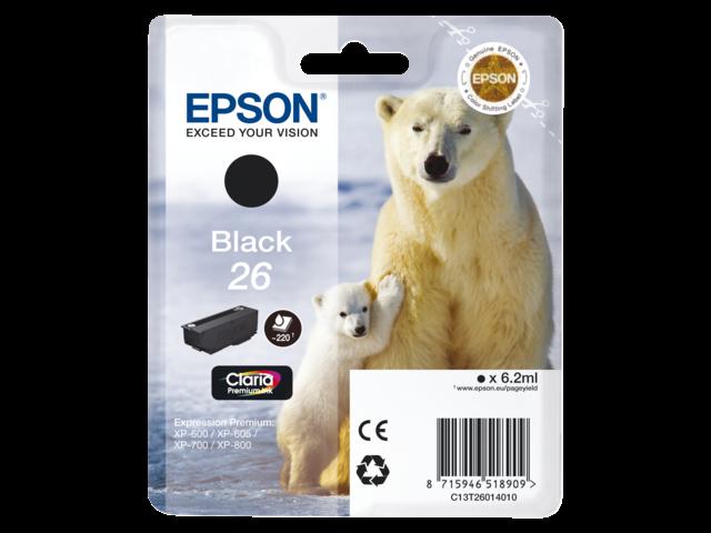 Inkcartridge epson t260140 zwart