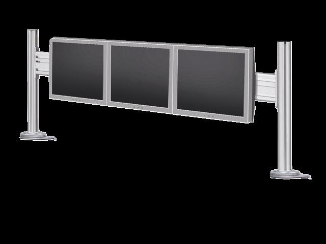 Flatscreenarm newstar dtb100 3 schermen zilver